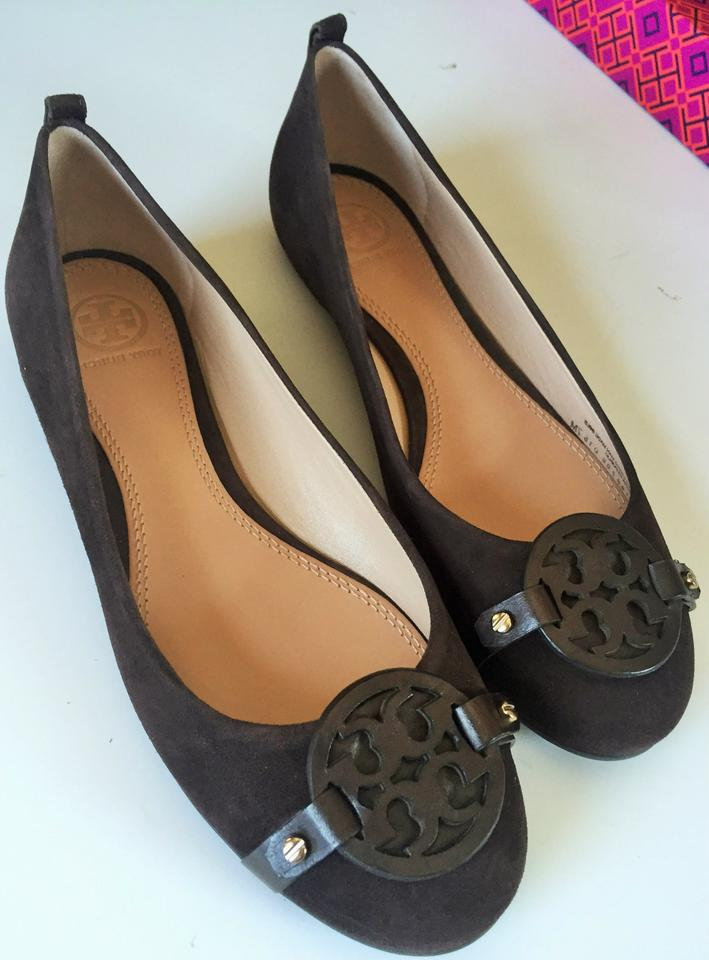 7c8e5418a4951e Tory Burch Coconut Brown In Box and Dust Bag Mini Miller Lancaster Suede  Leather Ballet Flats