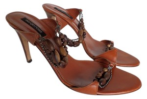 Sergio Rossi Beads Brown Sandals