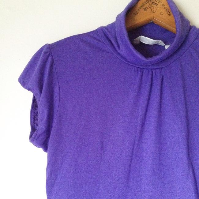 Derek Heart Purple Turtleneck Purple Short Sleeve Purple Turtleneck Tunic Image 1