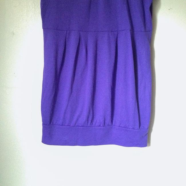 Derek Heart Purple Turtleneck Purple Short Sleeve Purple Turtleneck Tunic Image 3