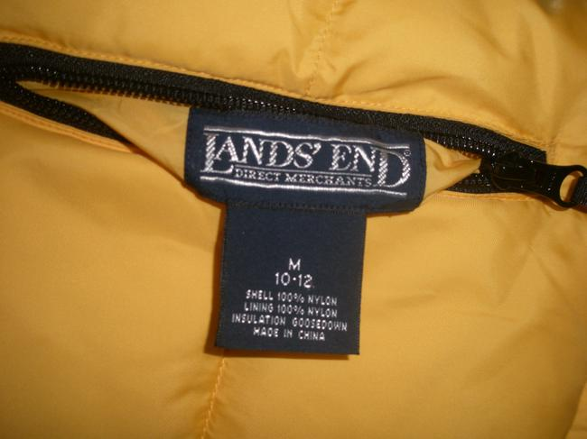Lands' End Full Front Zipper *snap Closure At Hem Neck Side Has 2 Zippered Hand Pockets Side Has 2 Hand Pockets Zippered Chest Vest