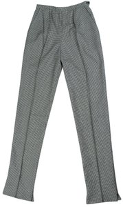 Gianfranco Ferre Check Black And White Wool Trouser Pants