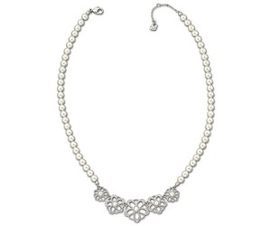 Swarovski Ruffle Collar Necklace, Simulated Pearls & Crystal 1125222