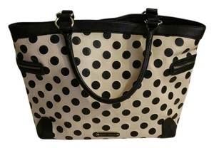 Betsey Johnson Tote in Ivory and Black