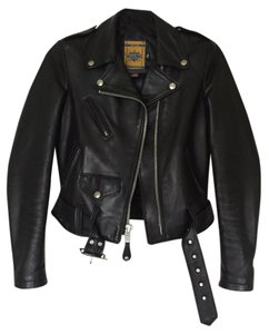 Schott NYC Leather Leather Moto Moto Details Moto Detailing Studs Zippers Belted Motorcycle Jacket