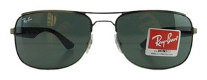 Ray-Ban New Ray-Ban Sunglasses RB 3524 029/71 Matte Gunmetal Navy Metal Full-Frame Gray Green 57mm