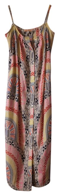 Item - Pink/Yellow Easy Mid-length Casual Maxi Dress Size 8 (M)