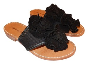 Jack Rogers Leather Upper Leather Sole 6m Black Sandals