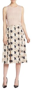 1.STATE Pleats Print A-line Skirt Deco Print