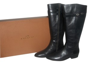 Coach Leather Boot New In Box Black Boots