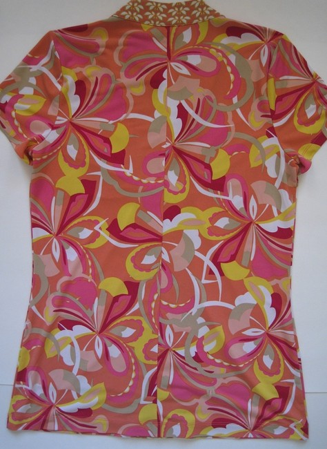 Dana Buchman Short Sleeve Top Pink, multi