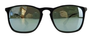 Ray-Ban New Ray-Ban Sunglasses RB 4187 601/30 Chris Black Acetate Silver Mirror Lens Full-Frame 54mm Italy