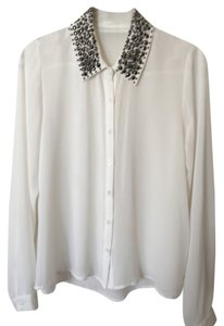 Lush Studs Top Cream White