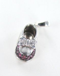 14KT SOLID WHITE GOLD BABY SHOE