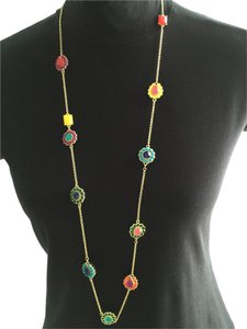 Kate Spade Kate Spade Multi-Colored Crystals, Goldtone Necklace
