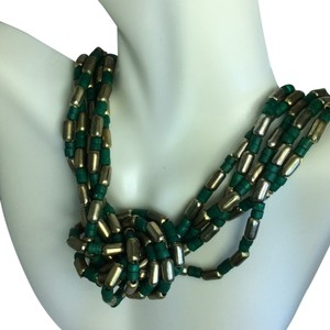 Hippy necklace Vintage Green Necklace