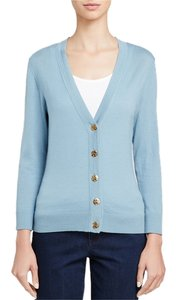 Tory Burch Simone Merino Blue Eileen Fisher Cardigan