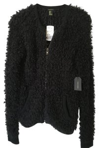 Forever 21 Fuzzy Soft Zipper Front Sweater