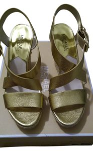 Michael Kors Metallic Gold Wedges