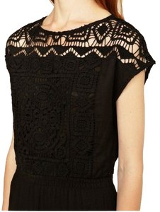 French Connection short dress black Embroidered Lace on Tradesy