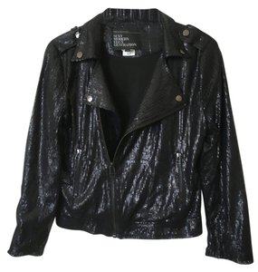 Urban Behavior Moto Motorcycle Sequins Motorcycle Jacket