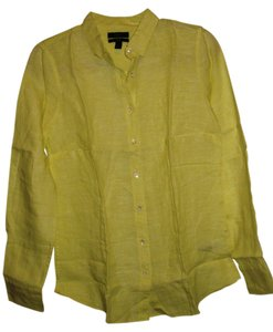 J.Crew Button Down Shirt Lemon Pulp