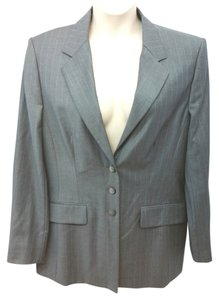 Escada Wool Jacket 44 GRAY Blazer