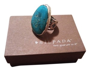 Silpada Silpada (R2017) Tumbled Turquoise Sterling Silver Ring (Retired)