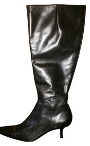 Ann Taylor Black Leather Boots
