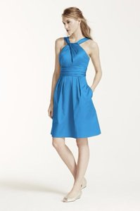 David's Bridal Cornflower Blue 83690 Dress