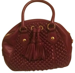 Isabella Fiore Tassel Braided Leather Hobo Bag