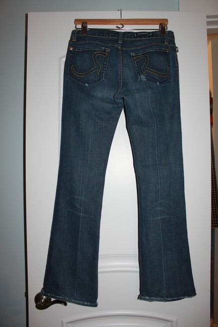 Rock & Republic Boot Cut Premium Denim Designer Seven For All Mankind Joes Straight Leg Jeans-Medium Wash