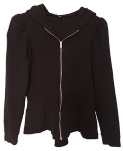 Betsey Johnson Bustle Hoodie black Jacket