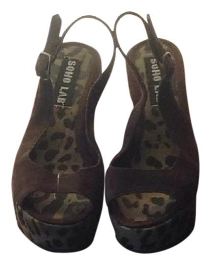 Soho Lab Leopard And Brown Wedges