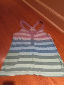 Splendid Rainbow Button Tank Tanktop Razor Razorback Colorful Soft Button Down Shirt Multi-Color