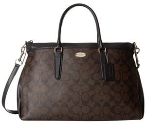 Coach Satchel in Black/brown