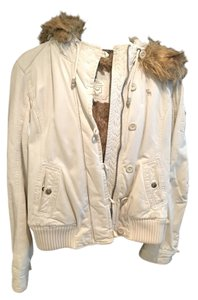 Abercrombie & Fitch Fauxfur Hooded Coat