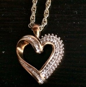 Gold Plated Silver and Diamond Gold Plated Silver and Diamond Necklace