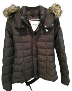 Abercrombie & Fitch Puffer Hooded Fauxfur Coat