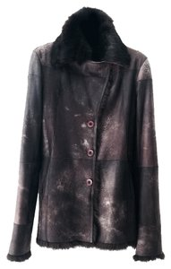 Sued Mod Leather Fur Winter Fur Coat