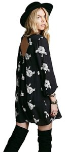 Free People short dress Black Embroidered Austin Emma on Tradesy