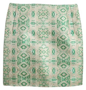 J.Crew Mini Skirt Multi color green