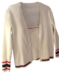 Lauren Ralph Lauren Cable Knit Sweater Camisole Strapless Sporty Tennis Summer Cardigan