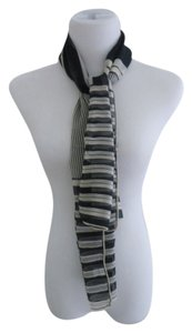 Nordstrom Nordstrom Navy Nautical Stripe Chiffon Silk Scarf - Made In Italy
