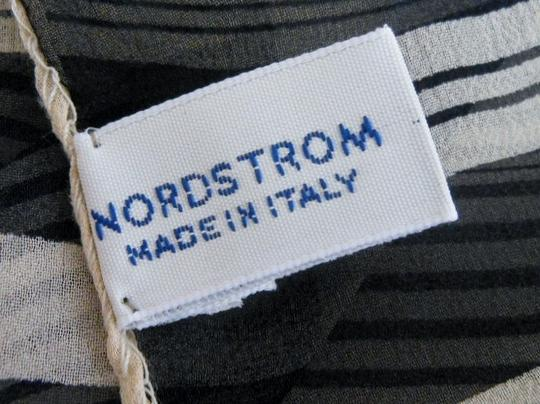 Nordstrom Nordstrom Navy Nautical Stripe Chiffon Silk Scarf - Made In Italy Image 1