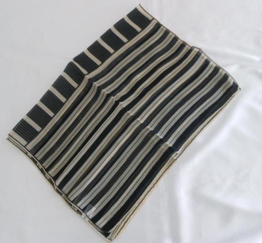 Nordstrom Nordstrom Navy Nautical Stripe Chiffon Silk Scarf - Made In Italy Image 2