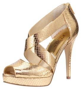 Michael Kors Gold Platforms