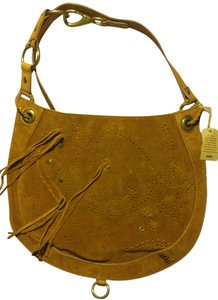 Lucky Brand Suede Tassels Leather Hobo Bag