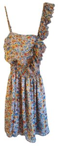 Poetry short dress Spring Floral Frayed Ruffle on Tradesy