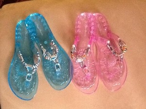Other Pink and blue with embellished stones Sandals